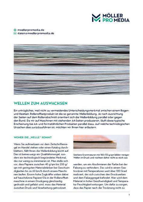 Download unseres Info-Blatts Drucktechnik: Wellenbildung
