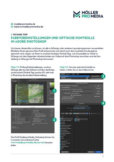 Download Farbvoreinstellungen und optische Kontrolle in Adobe Photoshop