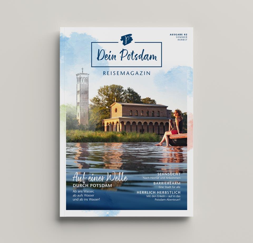 """Cover des Reisemagazins """"Dein Potsdam"""""""