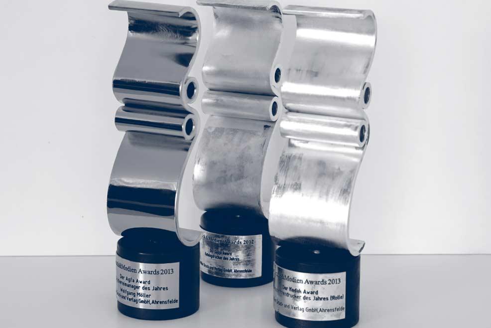 Für unsere hervorragenden Druckergebnisse wurde unser Unternehmen mit den Druck- und Medien Awards ausgezeichnet